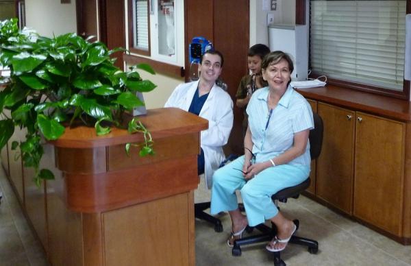 Dr. Aceves' staff, Yolanda & Dr. Campos Aug. 10, 2009