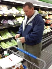 michael at walmart on3-7-10, he looks amazing now.  he has lost 71#