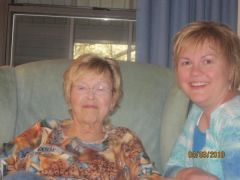 My mom and i  on easter sunday.  wow do we look alike!!