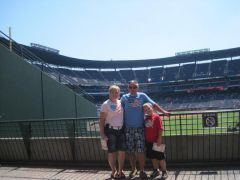 Michael, Haydon and I at the braves game in Atlanta.