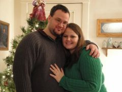 Right after we got engaged! My fiance Rick & me, Dec. 2009