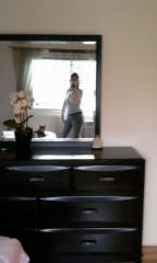 That's me in the mirror using my cell phone to get a full body snapshot of myself in size 10 jeans.
