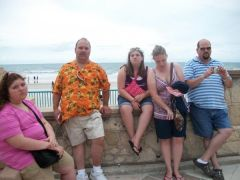 me in the orange shirt lol Daytona beach