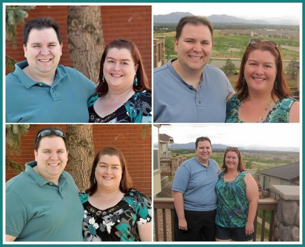 Comparison of hubby & me - On the left is pre-op, on the right is July 3rd 2010, exactly 1 month post op for the hubby, about 6 weeks post op for me.