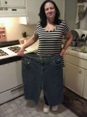 """Yup I can fit in one pant leg of my """"fat"""" jeans"""