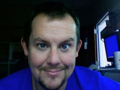 yes, my shirt IS shockingly blue, thankyaverymuch.