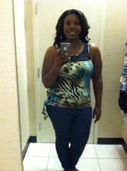 Trying on Juniors clothing- yes juniors! lol 1 year post op!