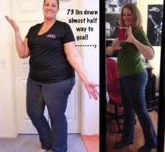 73 pounds down!