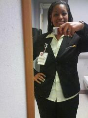 90 LBS GONE! ME IN MY NEW WORK UNIFORM, A LIL BETTER THAN THE OLD ONE.