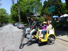 Pedicab with friend