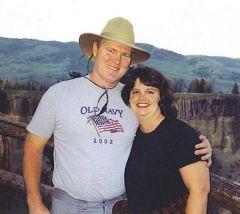 2003, my husband and I in Yellowstone