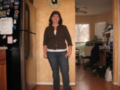 Full body pose at 1/2 way mark...38 lbs. lost, weight 167 lbs.