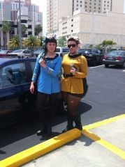 My friend and I as Spock and Kirk