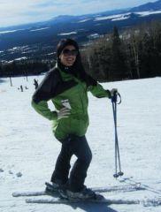Skiing Jan. 2010