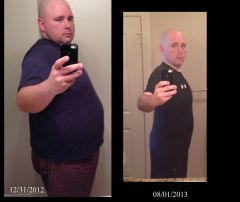 Before and 8 month pic.