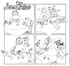 Jema & Alice Comic Strip