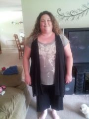 June 2013- 1 month after my surgery.  Approx. 36lbs down (including pre-op)