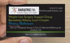My local chapter business card