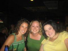 My (always skinny) sister, my very good friend, and myself.