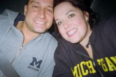On our way to a U of M football game!