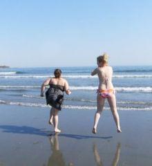 Aww me and Angela at Newport beach, April 2008
