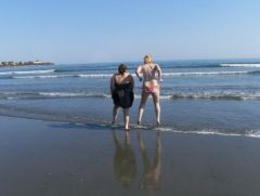 Me and my best friend Angela at Newport beach, hehe, the water was cold! April 2008