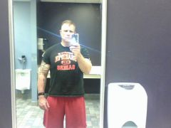 Pic taken after a back workout in July 2009