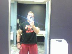 Pic taken after back workout in July 2009