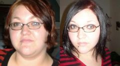 Me before my surgery, and then six months later.