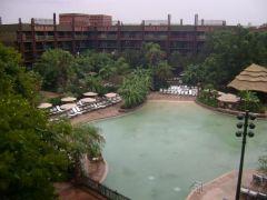 Pool view at Animal Kingdom Lodge