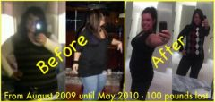 Not the best pic quality, but officially 100 lbs gone FOREVER