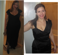 Photo on left was taken October 31, 2008 -- just shortly after surgery.  Photo on right was taken January 10, 2010.
