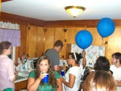 A friends party, it looks like I am always getting drunk in these pictures but I promise thats like 95% juice lol, July 2008
