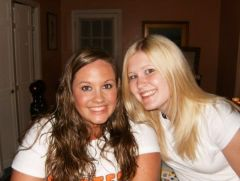 Me and my best friend Angela on vacation at my Cape house, July 2008