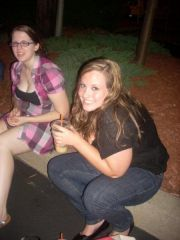 Me and my friend Melissa at a concert in Providence, August 2008, down 35 lbs! :)