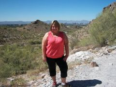 May 2010 (275lbs). Hiking Squaw Peak in Phoenix, AZ. I couldn't make it to the top but will next time!