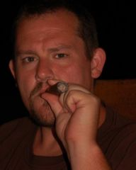 Smoking a stogie...Ok, I don't normally smoke...it was a vacation thing.