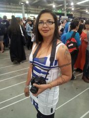At the SupaNova Convention, in my R2D2 dress - 13 April 2013