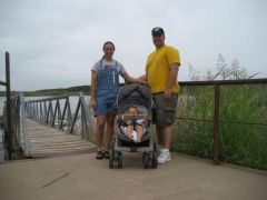 Before with my wife and dughter on a picnic.