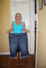 91 pounds ago these pants were TIGHT!