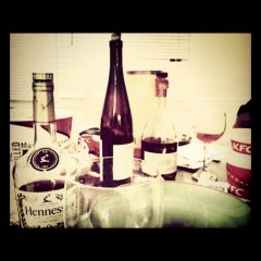 kfc, wine, and me