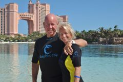 Me and my Wife - swimming with Dolphins