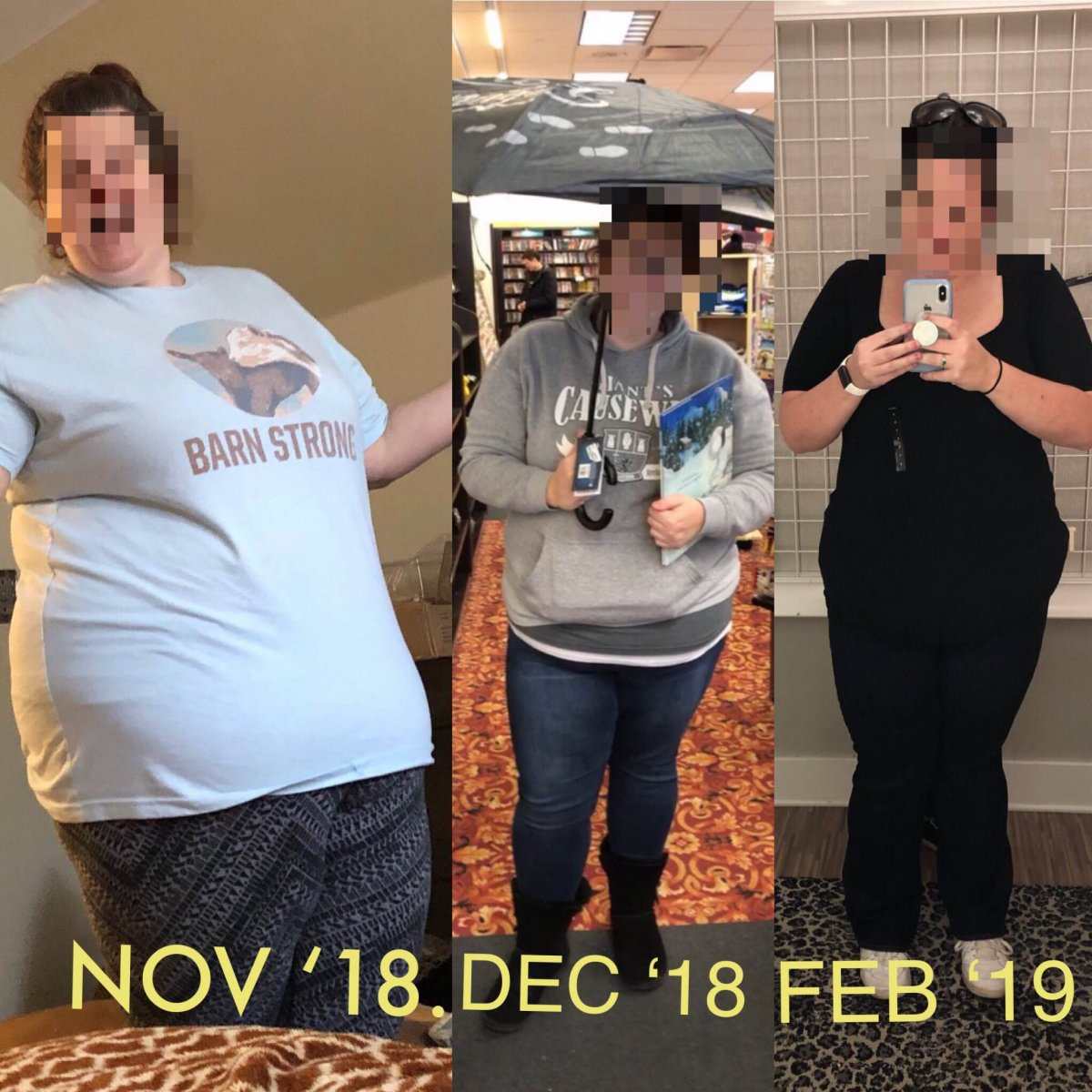60 pounds down from high weight