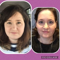 Face before & after